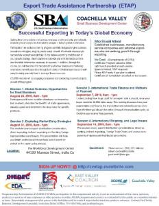 SBA – Export Assistance Training Program (ETAP)